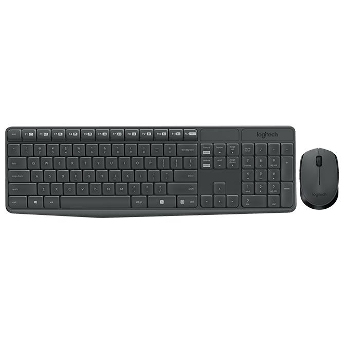 Клавиатура и мышь Logitech MK235 Wireless Keyboard and Mouse Black USB
