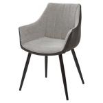 MC UDC8127 (Belinda) стул светло-серый меланж/экокожа хаки
