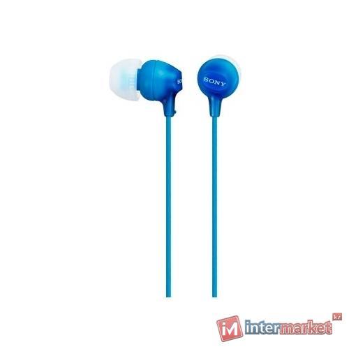 Наушники + микрофон SONY MDR EX 15 AP (blue)