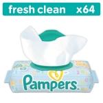 Салфетки Pampers Baby Fresh Clean, влажные сменный блок 64 шт.