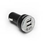 Универсальное автомобильное USB зарядное устройство, Lightning Power, LP-C027B, Автомобильное, 2 USB-порта, Поддержка iPad3, Вход 12-24В, Выход 2(5В 1A), Чёрный, Блистер