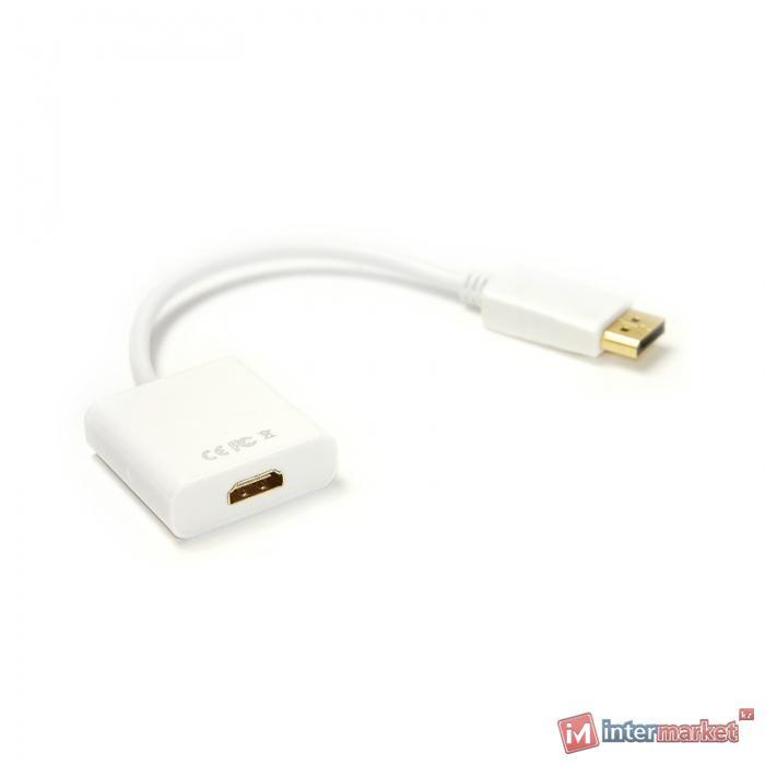 Виде кабель PowerPlant DisplayPort - HDMI, 0.15m, 1.4V